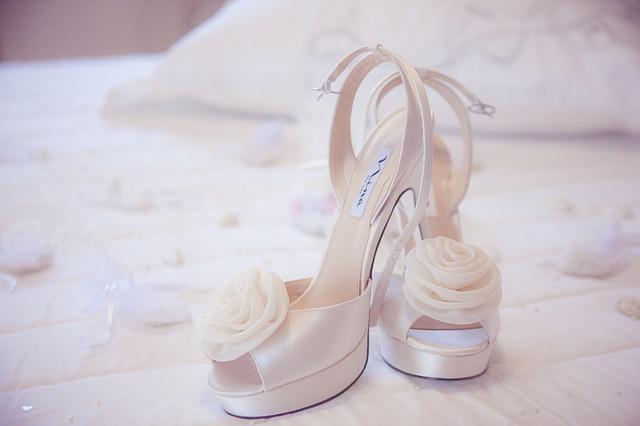 ウェディングドレス,靴